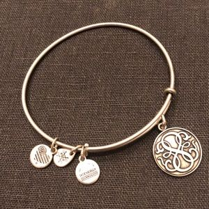 Alex and ani bracelet with 4 charms